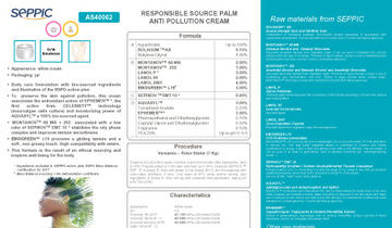 AS40062 - Responsible source palm anti-pollution cream