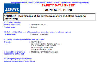 SDS MONTAGEL BP 50
